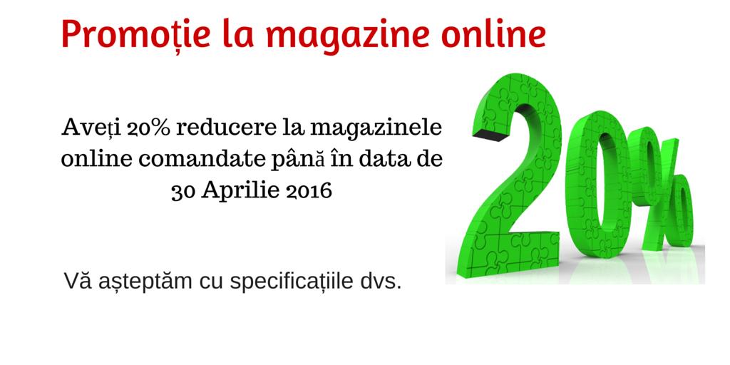 Promotie magazin online luna Aprilie 2016