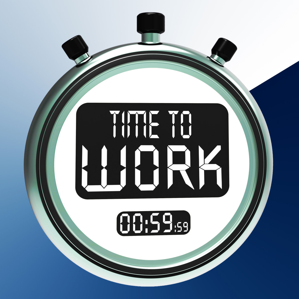 Time To Work Message Meaning Starting Job Or Employment