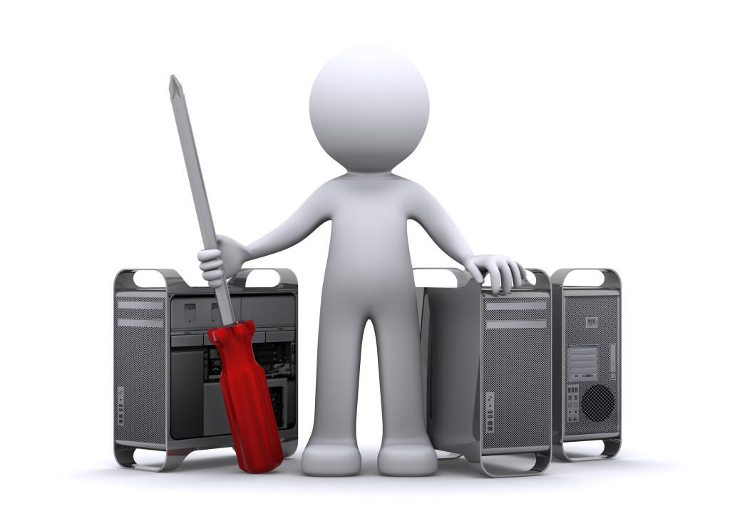 3d Technician repairing PC