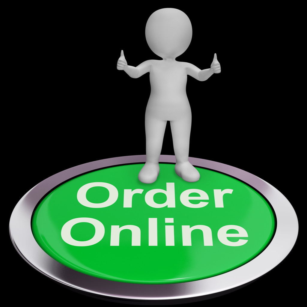 Order Online Button For Purchasing On The Web