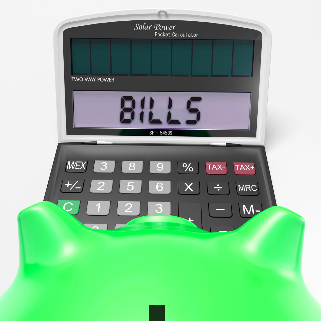 Bills Calculator Showing Invoices Payable And Accounting